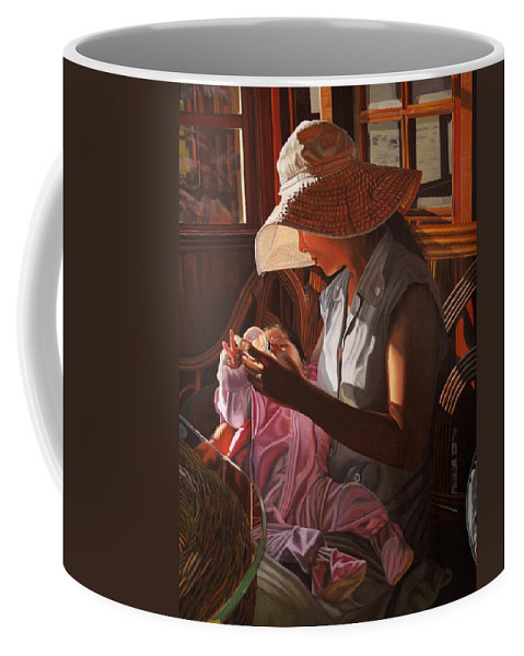 Children Paintings Coffee Mug featuring the painting Enfamil At Ha Long Bay Vietnam by Thu Nguyen