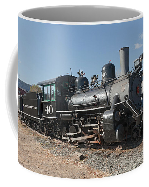 Colorado Coffee Mug featuring the photograph Engine 40 In The Colorado Railroad Museum by Fred Stearns