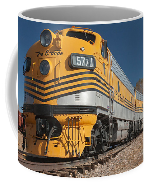 Colorado Coffee Mug featuring the photograph Engine 5771 In The Colorado Railroad Museum by Fred Stearns