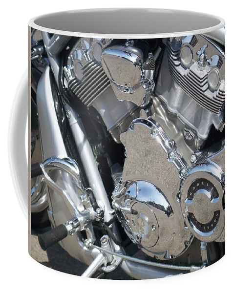 Motorcycles Coffee Mug featuring the photograph Engine Close-up 3 by Anita Burgermeister