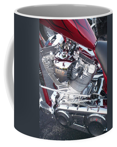 Motorcycles Coffee Mug featuring the photograph Engine Close-up 4 by Anita Burgermeister