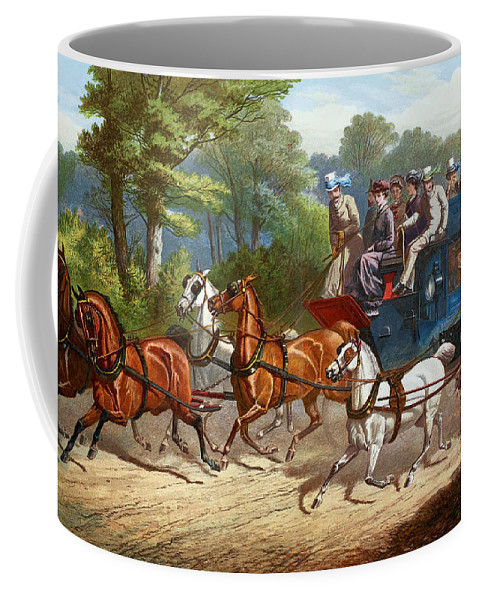 1880 Coffee Mug featuring the painting England Road Travel, 1880 by Granger