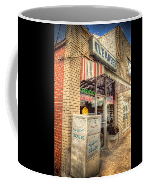 Englewood Coffee Mug featuring the photograph Englewood Cleaners 4540 by Timothy Bischoff
