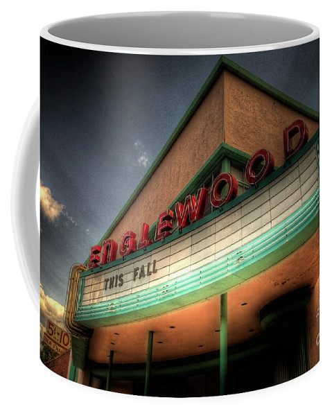 Englewood Coffee Mug featuring the photograph Englewood Theater 4507 by Timothy Bischoff