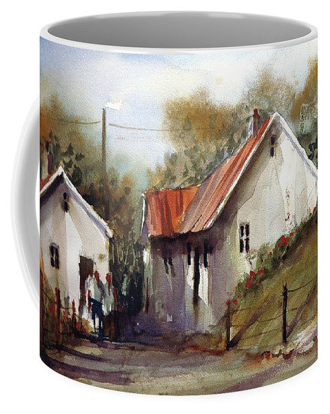 Landsscape Coffee Mug featuring the painting English Country Lane by Charles Rowland
