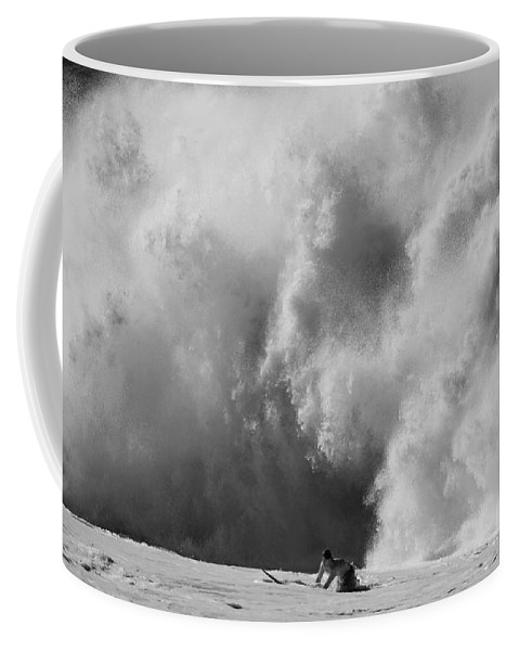 Surf Coffee Mug featuring the photograph Engulfed by Sean Davey