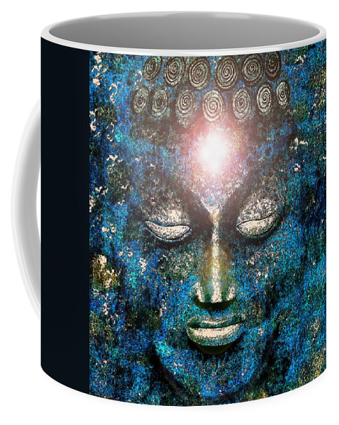 Buddha Coffee Mug featuring the painting Enlightenment 1 by Mark Beach