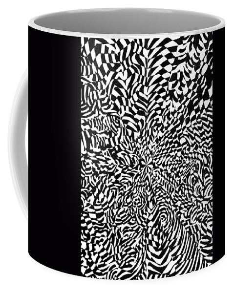 Abstract Coffee Mug featuring the drawing Entangle by Crystal Hubbard