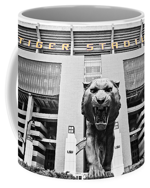 Lsu Coffee Mug featuring the photograph Enter At Your Own Risk - Select Color by Scott Pellegrin