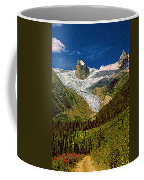 Mountains Coffee Mug featuring the photograph Entering The Bugaboos Impasto by Steve Harrington