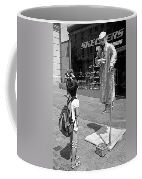 Street Candid Coffee Mug featuring the photograph Enthralled by Venetia Featherstone-Witty