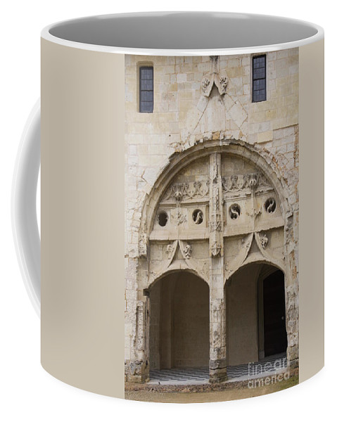 Cloister Coffee Mug featuring the photograph Entrance Fontevraud Abbey- France by Christiane Schulze Art And Photography