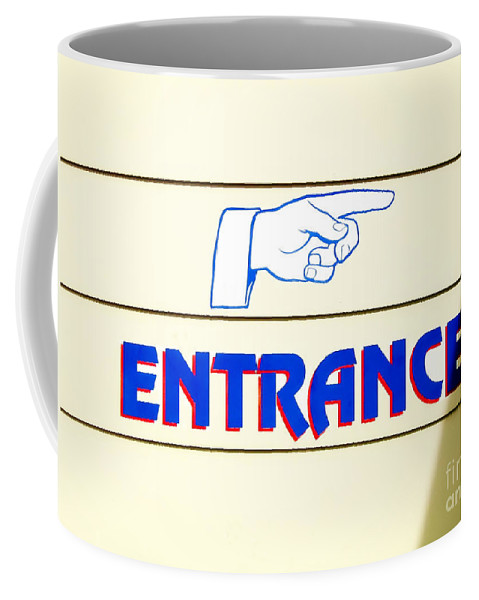 Grahic Coffee Mug featuring the photograph 'entrance Sign' by David Perry Lawrence