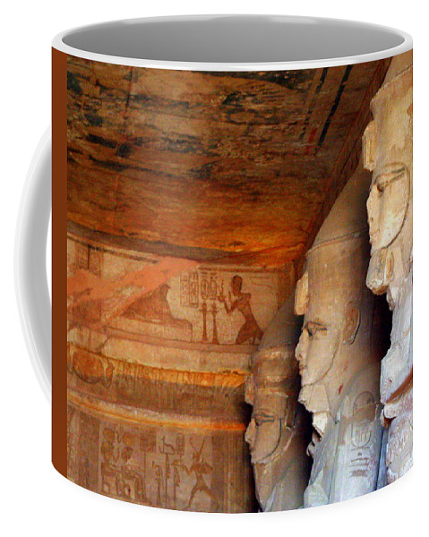 Abu Simbel Coffee Mug featuring the photograph Entrance To The Great Temple Of Ramses II by Laurel Talabere