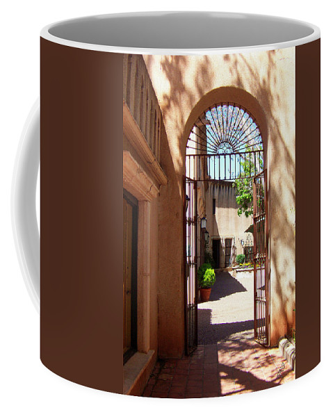 Tlaquepaque Coffee Mug featuring the photograph Entrances by Ben and Raisa Gertsberg
