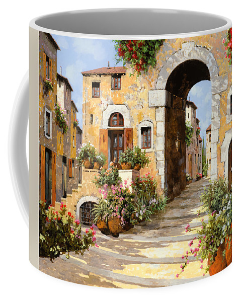 Cityscape Coffee Mug featuring the painting Entrata Al Borgo by Guido Borelli