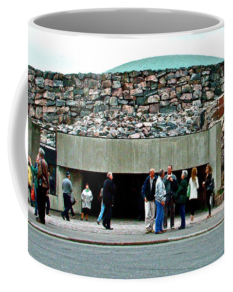 Coffee Mug featuring the photograph Entry To Church In The Rock In Helsinki-finland by Ruth Hager