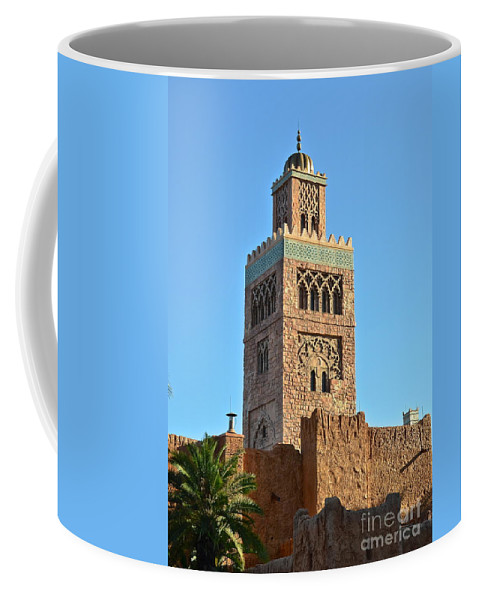 Epcot Coffee Mug featuring the photograph Epcot Morocco Pavilion by Carol Bradley