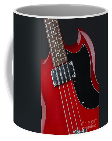Guitar Coffee Mug featuring the photograph Epiphone Sg Bass-9193 by Gary Gingrich Galleries