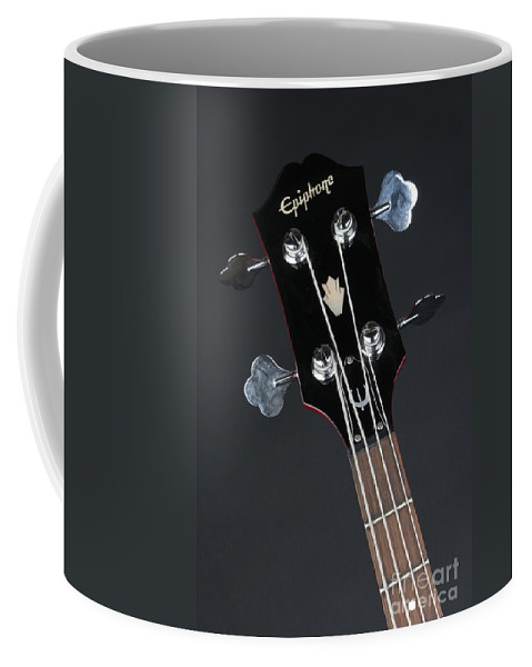 Guitar Coffee Mug featuring the photograph Epiphone Sg Bass-9225 by Gary Gingrich Galleries