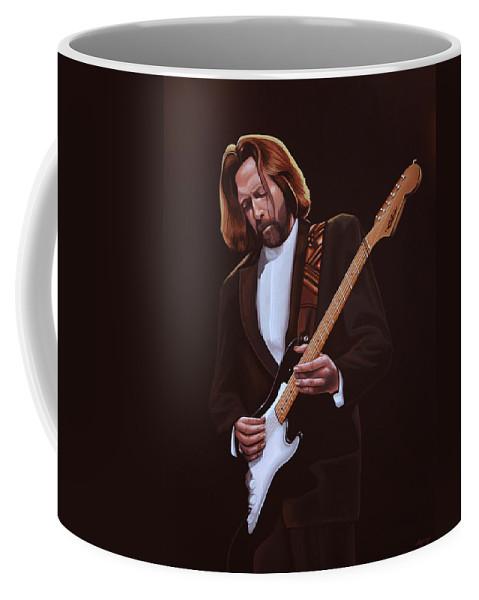 Eric Clapton Coffee Mug featuring the painting Eric Clapton Painting by Paul Meijering