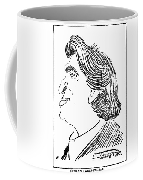 1912 Coffee Mug featuring the drawing Ermanno Wolf-ferrari (1876-1948) by Granger