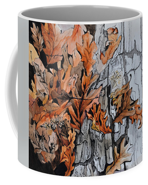 Abstract Coffee Mug featuring the painting Eruption I by Rachel Christine Nowicki