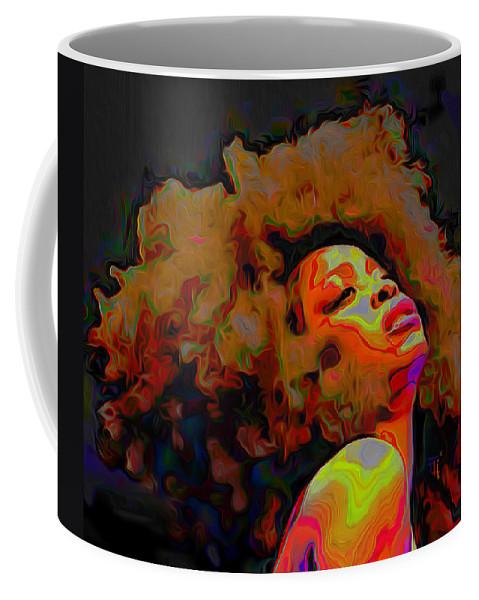 Erykah Badu Coffee Mug featuring the painting Erykah Badu by Fli Art