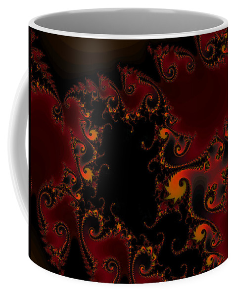 Fractal Art Coffee Mug featuring the digital art Escape Hatch by Elizabeth McTaggart