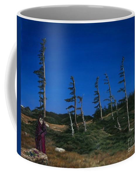 Western Coffee Mug featuring the painting Essence by Nancy Dunham