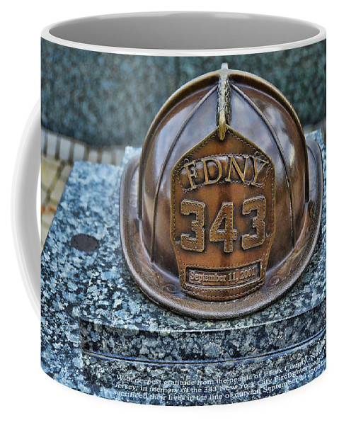 Memorial Coffee Mug featuring the photograph Essex County N J 9-11 Memorial 3 by Allen Beatty