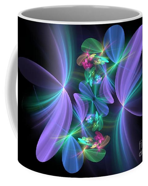 Flower Coffee Mug featuring the digital art Ethereal Dreams by Svetlana Nikolova