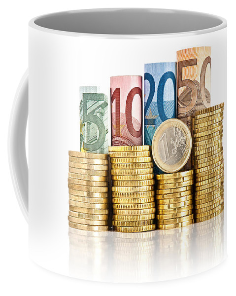Background Coffee Mug featuring the photograph Euro Currency by Antonio Scarpi