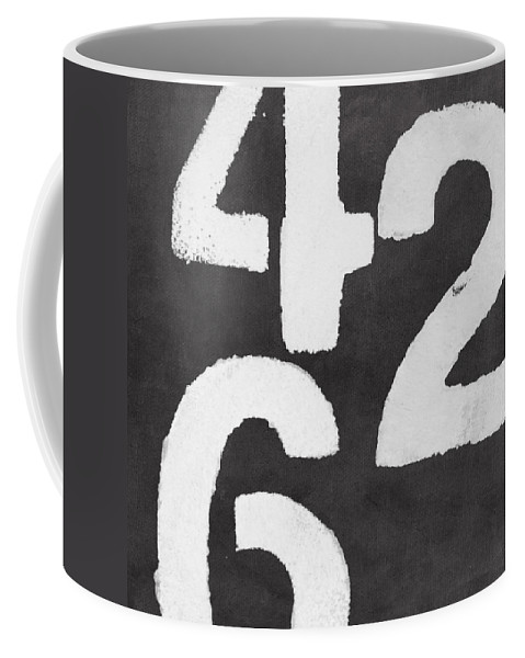 Even Numbers Coffee Mug featuring the painting Even Numbers by Linda Woods