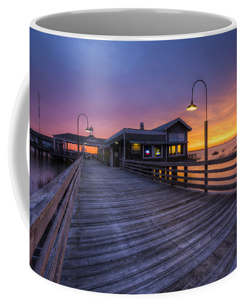 Clouds Coffee Mug featuring the photograph Evening Lights by Debra and Dave Vanderlaan