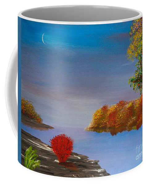 Late Fall Coffee Mug featuring the painting Evening On The Last Sunny Day by Alys Caviness-Gober