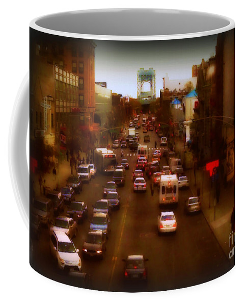 New York Coffee Mug featuring the photograph Evening Rush by Miriam Danar