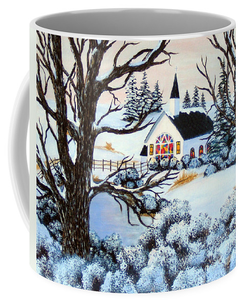 Barbara Griffin Coffee Mug featuring the painting Evening Services by Barbara Griffin