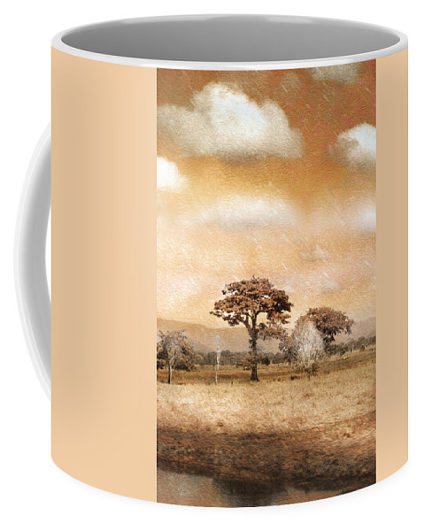 Landscapes Coffee Mug featuring the photograph Evening Showers by Holly Kempe