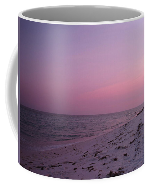 Seascape Coffee Mug featuring the photograph Evening Sky At The Beach by Megan Cohen