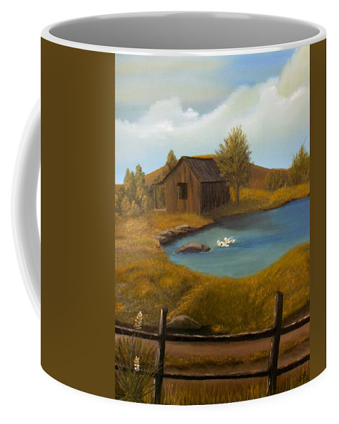 Evening Coffee Mug featuring the painting Evening Solitude by Sheri Keith