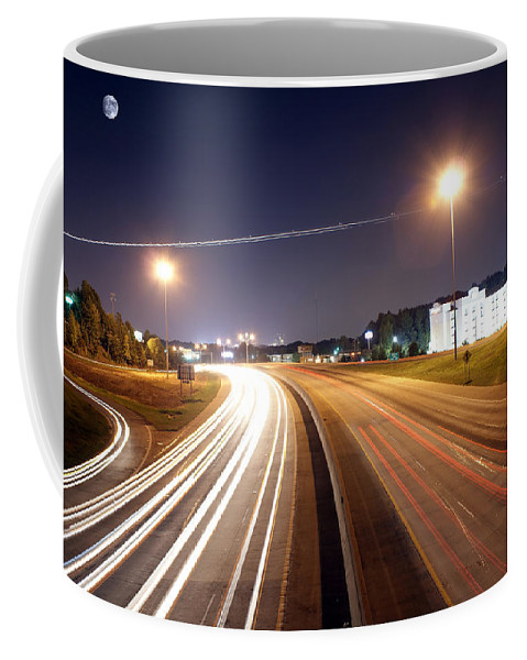District Coffee Mug featuring the photograph Evening Traffic On Highway by Alex Grichenko