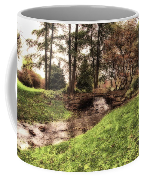 Rock Coffee Mug featuring the photograph Every Tear Drop Is A Waterfall by Thomas Woolworth