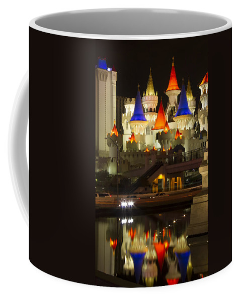 Excalibur Coffee Mug featuring the photograph Excalibur Reflection by Debby Richards