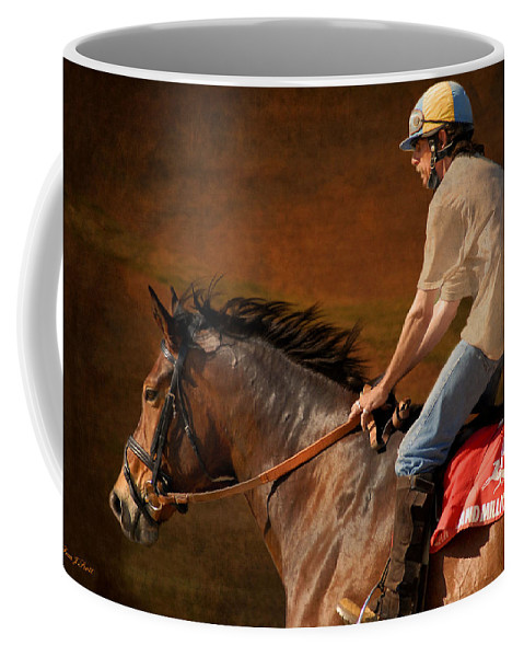 Race Coffee Mug featuring the photograph Exercising Morty by Fran J Scott