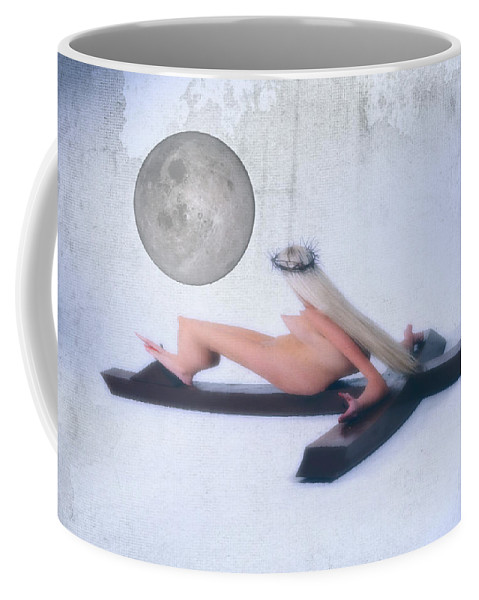 Experimental Coffee Mug featuring the photograph Experimental Crucifix Color by Ramon Martinez