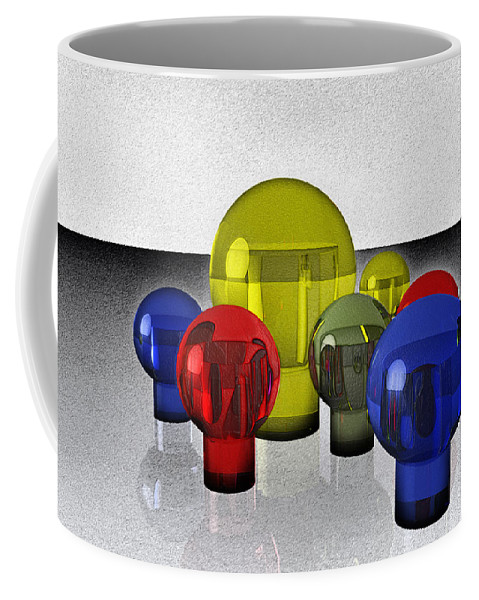 Reflections Coffee Mug featuring the digital art Experimental Reflections by Ramon Martinez