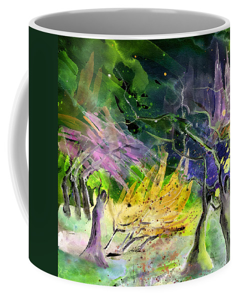 Fantasy Coffee Mug featuring the painting Expulsion by Miki De Goodaboom