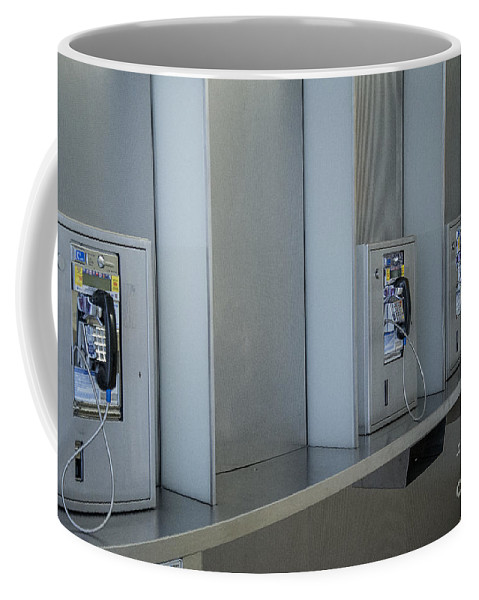 Pay Phones Coffee Mug featuring the photograph Extinct by Patrice Dwyer