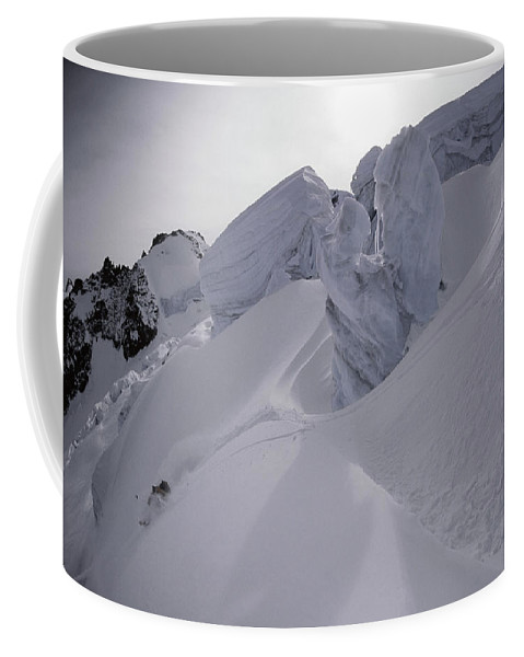 Action Coffee Mug featuring the photograph Extreme Skier Going Fast In Beautiful by Patrik Lindqvist